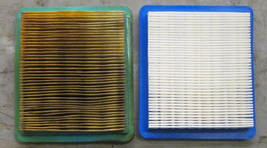 filtro aire sucio vs limpio